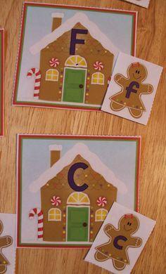 Free gingerbread ABC matching activity. Alphabet and letter matching gingerbread activity for your preschool, pre-k and kindergarten gingerbread unit.