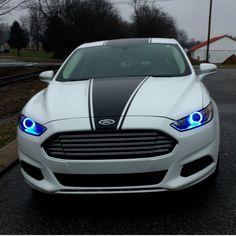 Halos Ford Fusion 2013-2016 Ford Girl, Car Mods, Ford Fusion, Future Car, Car Stuff, Fast Cars, Sport Cars, Dream Cars, Halo
