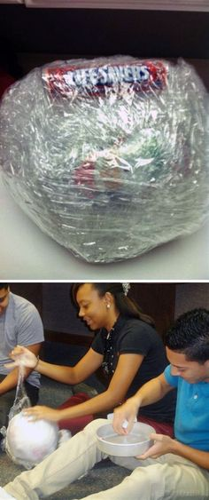 The Shrink Wrap Candy Ball Game