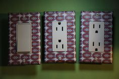 Montreal Canadiens Habs 3 pc NHL Light Switch Cover cave sport room decor hockey