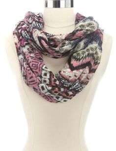 Tribal Print Abstract Infinity Scarf: Charlotte Russe
