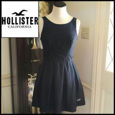 Black Hollister Skater Skirt Fitted Dress
