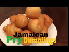 How to make Jamaican fry dumplings/ Johnny cakes - YouTube Fry Dumpling Recipe, Jamaican Fried Dumplings, Cake Youtube, Jamaican Recipes, Baked Potato, Fries, Cooking, Ethnic Recipes, How To Make