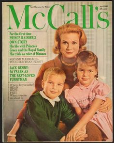 McCall's - Cover - April 1963 - Princess Grace with Albert and Caroline