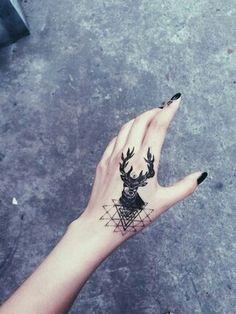 """unique-tattoo-ideas: """" Beautiful deer tattoo """""""