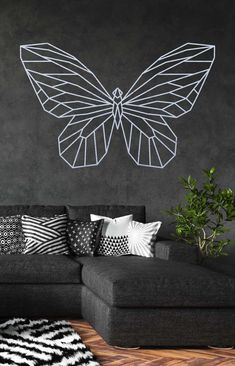 Laser Cutter Projects, Pop Art Portraits, Geometric Wall, Tattoos For Women, Wall Decor, Throw Pillows, Creative, Room, Crafts