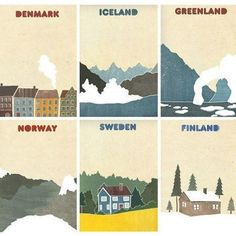 How to tell Iceland apart from the other Nordic countries: an illustration. (Source: beforever-lovely, via eyjafjallajokullisnotkeysmashed)
