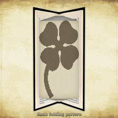 Book folding pattern Clover Petals for 130 folds - ID0877735