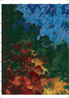 Cross Stitch, Celestial, Embroidery, Painting, Outdoor, Art, Paisajes, Dots, Needlepoint
