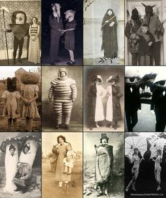 Halloween costumes back in the day - Creepy!!