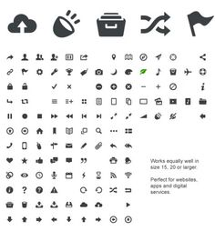 Entypo - 100 Carefully Crafted Pictograms