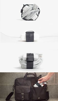 Leather Cord Organizer - Easily Wrap & Carry Cords in a Snap! / TechNews24h.com