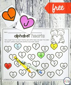 Alphabet Hearts - Playdough To Plato If you're on the hunt for a motivating alphabet activity for Valentine's Day, you're in the right spot! This playful heart game is a guaranteed win. It's the perfect sneak to our popular Valentine's Activity Pack! Valentines Day Activities, Alphabet Activities, Literacy Activities, Valentine's Day Letter, Valentine Theme, In Kindergarten, Preschool Activities, Heart Cards, Simple