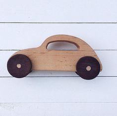 Wooden Car Wood Toy Wooden Toy Waldorf Toy Toy Car Push