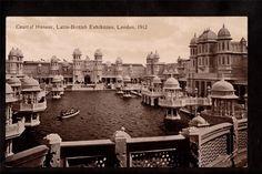 1912 Photo Court Honour Latin British Exhibition London UK Exposition Postcard