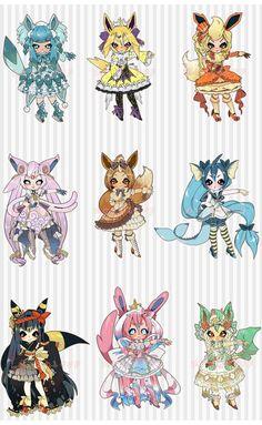 Pokemon Costumes, Pokemon Cosplay, Cute Pokemon Wallpaper, Wallpaper Iphone Cute, Pokemon Mignon, Pokemon Human Form, Pokemon Eevee Evolutions, Pikachu, Pelo Anime