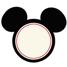 free printable mickey -- Add a bow to change Mickey into a Minnie Mouse, Use this for a label. Mickey Mouse Head, Mickey Mouse Parties, Mickey Party, Mickey Mouse And Friends, Mickey Mouse Clubhouse, Mickey Mouse Birthday, Mouse Ears, Mickey Cupcakes, Theme Mickey