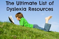 The Ultimate List of Dyslexia Resources. See our 12 Fonts 4 Dyslexia at http://www.fonts4dyslexia.com/