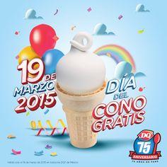 Recuerden que hoy es el día del #cono #gratis por el 75 #aniversario de #DQ ¡Acompáñanos en este refrescante día!