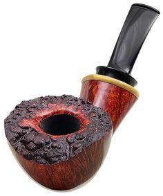 Todd Johnson Tobacco Pipes: Smooth Bent Dublin with Boxwood (Phalanx-Q)