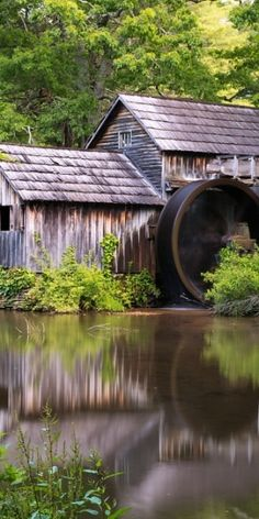 This is Mabry water mill on the Blue Ridge Parkway (I've actually been there once.  I'd like to go again.)