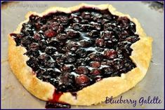 Enjoy this rustic, freeform shaped blueberry galette dessert... it's simple and delicious, uses pie crust dough, and is easier than making a pie!