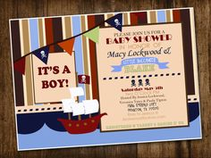 Pirate Baby Shower Invite