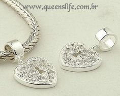 Berloque em prata de lei 925 compatíveis com todas  pulseiras estilo europeu LIFE.