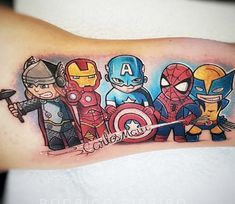Avangers tattoo by Rodrigo Ribeiro Avangers Tattoo von Rodrigo Ribeiro Marvel Tattoos, Avengers Tattoo, Gamer Tattoos, Disney Tattoos, Sexy Tattoos, Body Art Tattoos, Sleeve Tattoos, Tattoos For Guys, Cool Tattoos