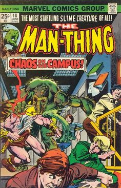 Marvel Man Thing issue 18 - Google Search