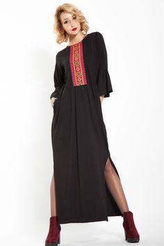 #rochie #bumbac #rochieneagra #rochielunga #rochiebrodata #maneciclopot Agate, Clothing, Dresses, Fashion, Outfit, Gowns, Moda, La Mode, Dress