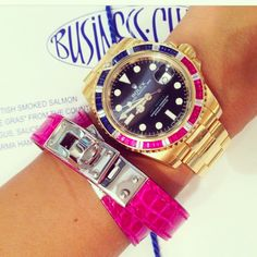 Hermes and rolex