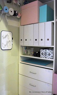 Fabulous Craft Closet Organization