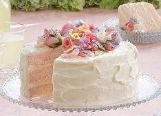 PINK LEMONADE CAKE Makes 1 (9-inch) 3-layer cake 1 1/2 cups butter, softened 1 1/4 cups sugar 1/2 cup pink lemonade drink mix* 4 large eggs...