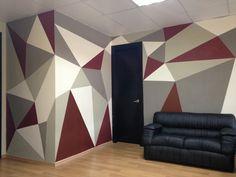 Mural de Estudio Nueve Bedroom Wall Designs, Wall Decor Design, Bedroom Wall Colors, Diy Room Decor, Living Room Decor, Bedroom Decor, Home Room Design, Interior Design Living Room, Deco Studio