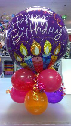 Let's get creative!: Air filled balloon centerpiece