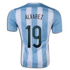 Ricardo Alvarez 19 2015 Copa America Argentina Home Soccer Jersey