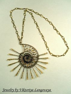 Big fossil coral necklace    nickel/&lead free chain
