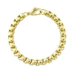 Endless Box Bracelet - A sleek, polished bracelet with a square 'box' link. Solid on the wrist and smooth to the touch, this is a bold partner for the Endless Box necklace.