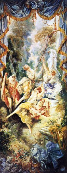 ART & ARTISTS: November 2012 / Ladies on a Swing 1921 - Everett Shinn