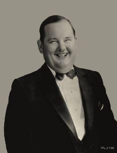 "A vintage press shot of comic legend ""Oliver Hardy"" circa 1920s!"