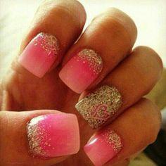 Cute gel nails. .