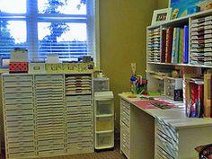 Scrapbooking room, #crafts, #scrapbooking, #organize