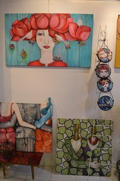Actitud Creativa KARINA CHAVIN / Circo Golondrina Art Pop, Wal Art, Art Journal Inspiration, Simple Art, Art Tutorials, Mixed Media Art, Flower Art, Modern Art, Art Projects