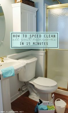 If you follow along with my cleaning routine, on Mondays you clean bathrooms right along with me in your home. (I also post daily reminders on Instagram and Facebook, click to follow along.)Today I'm sharing a visual of how I clean ALL of my bathrooms in 15 minutes. I have 4 bathrooms and can attest... (read more...)