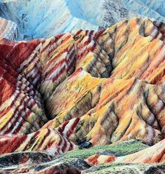 Danxia China landforms - amazing! http://www.mymodernmet.com/profiles/blogs/zhangye-danxia-landform-landscape-photography
