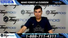 Wake Forest Demon Deacons vs. Clemson Tigers Free NCAA Basketball Picks ...