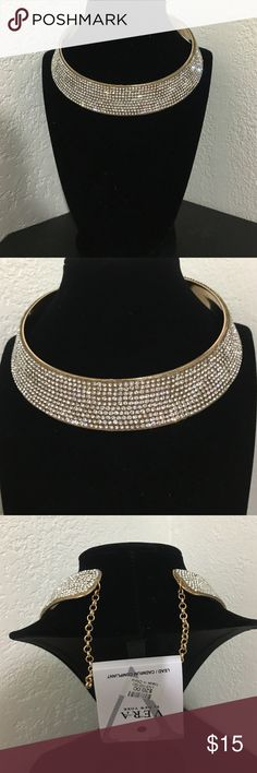 Gorgeous diamond gold statement Choker Great statement piece!! Brand new ! Offers welcomed! Jewelry Necklaces