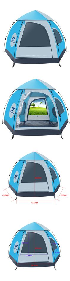 Tent and Canopy Accessories 36120 5-6 Person Waterproof Outdoor Tent 4 Season Hiking. Tent C&ingCanopyPopupHikingOutdoorEbaySeasonsAccessories  sc 1 st  Pinterest & Tent and Canopy Accessories 36120: Waterproof 4-5 People Automatic ...