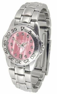 Maine Black Bears Ladies Sport Watch with Steel Band and Mother of Pearl Dial by SunTime. $70.20. Scratch Resistant Face. Calendar Date Function. Rotation Bezel/Timer. This handsome, eye-catching watch comes with a stainless steel link bracelet. A date calendar function plus a rotating bezel/timer circles the scratch resistant crystal. Sport the bold, colorful, high quality Maine Black Bears logo with pride.The hypnotic iridescence of our natural blush mother of pearl combined...